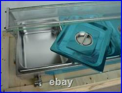 1 PC Food Warmer 5 Pans(51/2 pan) Full Stainless Food Warmer Machine #190019