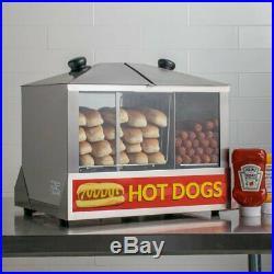 100 Dog/48 Bun Commercial Hot Dog Steamer Warmer Cooker Food Electric Countertop