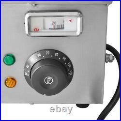 110V 1500W 5-Pan Steamer Bain-Marie Buffet Countertop Food Warmer Steam Table