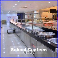 110V 1500W Bain-Marie Buffet Countertop Food Warmer Steam Table 5-Pan Steamer