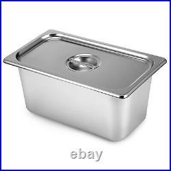 110V 4-Pan Catering Food Warmer Steam Table Bain-Marie Buffet Restaurant 850 W