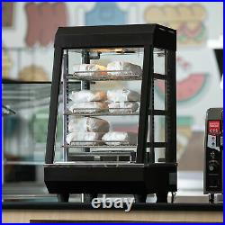 13 Countertop Self Service Heated Food Display Warmer with Doors 110V, 1200W