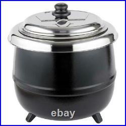 14 Qt. Black Electric Countertop Food Soup Kettle Warmer Kitchen Resto 110 Volts