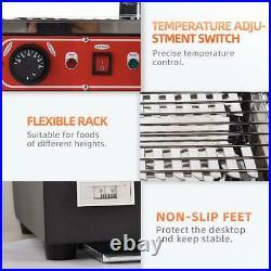 15 3 Shelf Food Warmer Heat Food Pizza Display Warmer Cabinet Commercial US