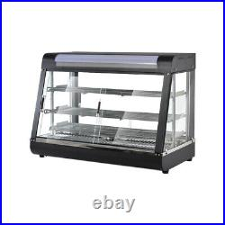 1500W Commercial Food Warmer Court Heat Food Display Cabinet 35 Glass 3-Tiers