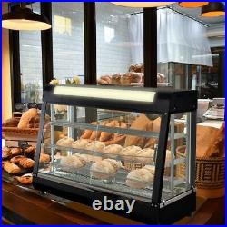 1500W FOOD DISPLAY WARMER 3 Shelves Glass Door Countertop Coffee Shop Restaurant