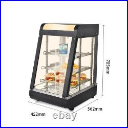15Inch 3-Tiers Commercial Food Warmer Cabinet Counter-top Heated Display New