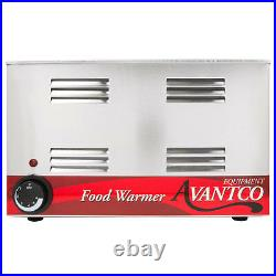 2 PACK FULL SIZE Electric WITH 4 PAN & LID Countertop Food Warmer Commercial