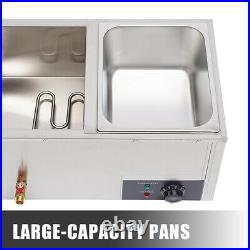 2-Pan 10L Food Warmer Restaurant Bain-Marie Buffet Steam Table Large Capacity US