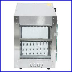 2-Tier Commercial Food Warmer Court Heat Food Pizza Display Warmer Cabinet