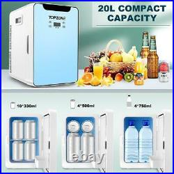 20L Mini Fridge, Portable Thermoelectric Cooler and Warmer for Beverage, Food