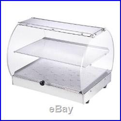 20x16x15 Food Warmer Commercial 2 Tray Heat Pizza Display Cabinet Case 500W