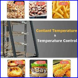 25x19x17 Commercial Food Pizza Warmer Countertop Cabinet Heater Display Case