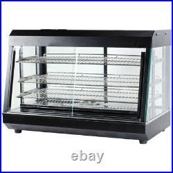 26 3 Shelf Commercial Countertop Heated Food Display Case Warmer Sliding Doors