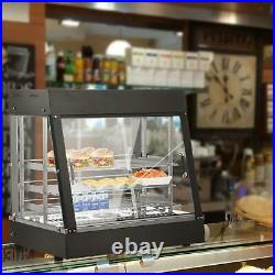 27 Glass Commercial Food Warmer Court Heat Food pizza Display Warmer Cabinet