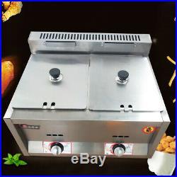 2X6L Table Pan Fryer Food Warmer Buffet Countertop Gas Steam Table Steamers