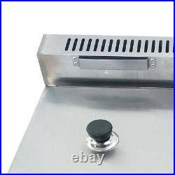 2x6L Commercial Gas Fryer Food Warmer Buffet Countertop Steam Table Steamers New