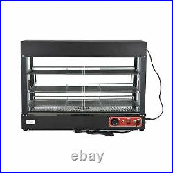 3-Tier 1800W Commercial Countertop Food Pizza Warmer Display Cabinet Case