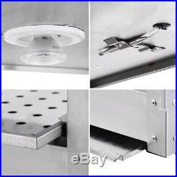 3-Tier Countertop Food Warmer Case Commercial