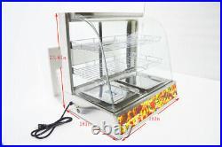 3 Tiers Electric Egg Tart Food Display Case Pizza Dessert Warmer Display Cabinet