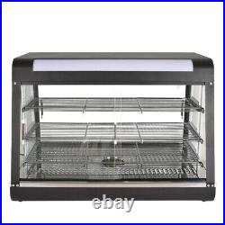 35Inch 3-Tiers Commercial Food Warmer Cabinet Counter-top Heated Display New