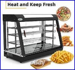 35x25x19 Commercial Food Warmer Cabinet 3 Tiers Countertop Pizza Display Case