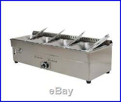 45'' 4-Pan LP Gas Bain-Marie Buffet Food Warmer Steam Table 1Warmer+41/2Pans