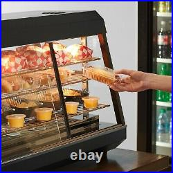 48 Countertop Self Service Heated Food Display Warmer with Doors 110V, 1500W