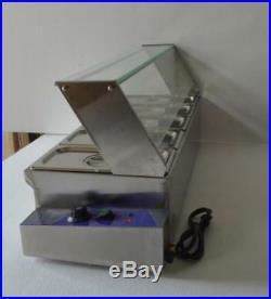 5-Pan Food Warmer Steam Table Countertop Bath Warmer