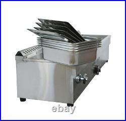 5- Pan Propane Gas Bain Marie Buffet Food Warmer 56inch Steam Table US