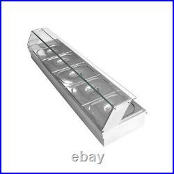 5-Pan Steamer Bain-Marie 110V Food Warmer Steam Table 1500W Buffet Countertop