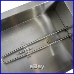 5-Pan Steamer Bain-Marie Buffet Countertop Food 110V 1500W Warmer Steam Table