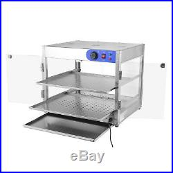 5 Size Commercial 2 / 3-Tier Counter top Food Pizza Warmer Display Cabinet Case