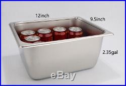 6''Deep Pan 5-Pan Countertop Steam Table Bain Marie Food Warmer 110V1500W US New