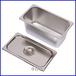 6 Pans Bain Marie Countertop Food Warmer Steam Table 850W Restaurant Equipment