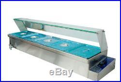 6Deep Pan 5/Pan Bain-Marie Buffet Steam Table Food Warmer High-Quality 110V USA