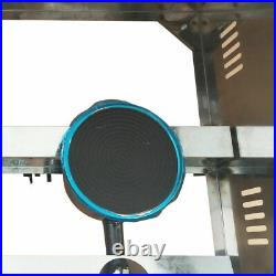 6L 3-pan Commercial Food Warmer Steam Buffet Countertop Deep Gas Fryer Steam