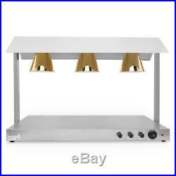 890W Heat Lamps Three Lights Restaurant Fried Food Warmer Counter Top 220-240V