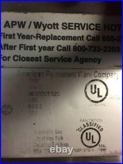 APW / Wyott Electric Countertop Food Pan Warmers W4-2 / W-4B Qty. 4