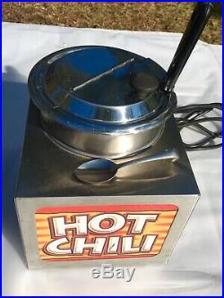APW Wyott LW-4 Commercial Countertop Drop-In Food Warmer Hot Chili, Soup & More