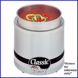 APW Wyott RW-2V Electric Countertop Round Food Pan Warmer- 11 Qt. Capacity