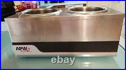 APW Wyott W4-2 Dual Food Warmer, Countertop, Electric 4 Qt