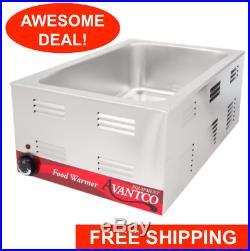 Avantco Electric Countertop Food Warmer Buffet Kitchen Restaurant Commercial Hot