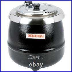 Avantco S600 14 Qt. Black Electric Food Soup Kettle Warmer 110 Volts
