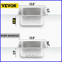 Bain Marie Food Warmer Commercial Food Steam Table 6 Pans 12L with Glass Shield