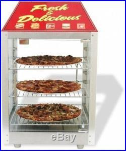 Benchmark 2 Door Warmer Merchandiser Hot Dog Pizza Hot Food Display Case Cab