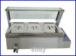 Brand NEW 3 Pot Food Warmer Bain-Marie Buffet Steam Table Countertop 110V 1500W