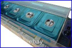Brand New GN1/2Pan 5 Well Food Warmer Steamer Warming Tray Kitchen Equipment US