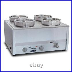COMMERCIAL ROBAND COUNTER TOP BAIN MARIE FOOD WARMER BM4E GP895 4x7.25Ltr