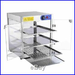 Commercial 20x20x24 Countertop 3-Tier Food Pizza Warmer Display Cabinet Case